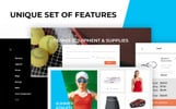 Responsive YellowBall - Tennis Store Prestashop Teması