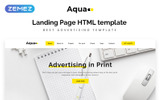 Aqua - Advertising HTML5 Landing Page Template