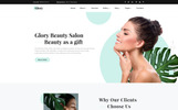 Glory - Divine Beauty Salon Multipage Website Template