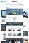 Dynamics - Mehrseitiges HTML5 Website Template für Industriebetriebe und -beschäftigte