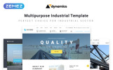 "Website Vorlage namens ""Dynamics - Industrial Multipage HTML5"""