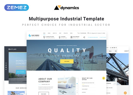 Industrial Multipage HTML5