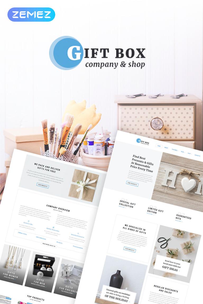 Gift Box - Kézzel készített ajándékok boltja Elementor WooCommerce téma New  Screenshots BIG d9ed57c70a