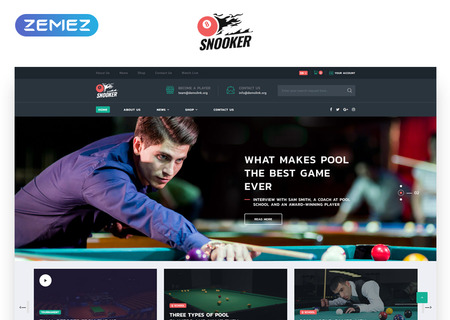 Billiard Multipage HTML5