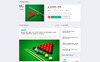 Snooker - Billiard Multipage HTML5 Template Web №70528 Screenshot Grade