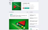 Snooker - Billiard Multipage HTML5 Template Web №70528