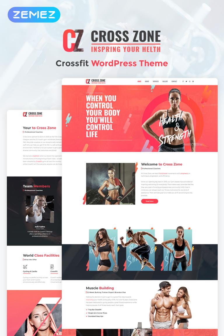 Cross Zone - Crossfit Studio Elementor WordPress Theme