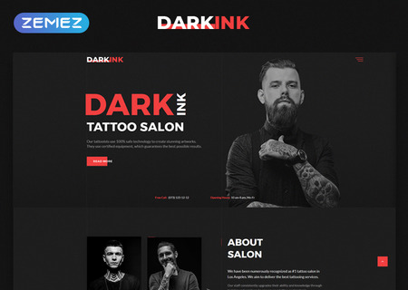 Tattoo Salon Multipage HTML5