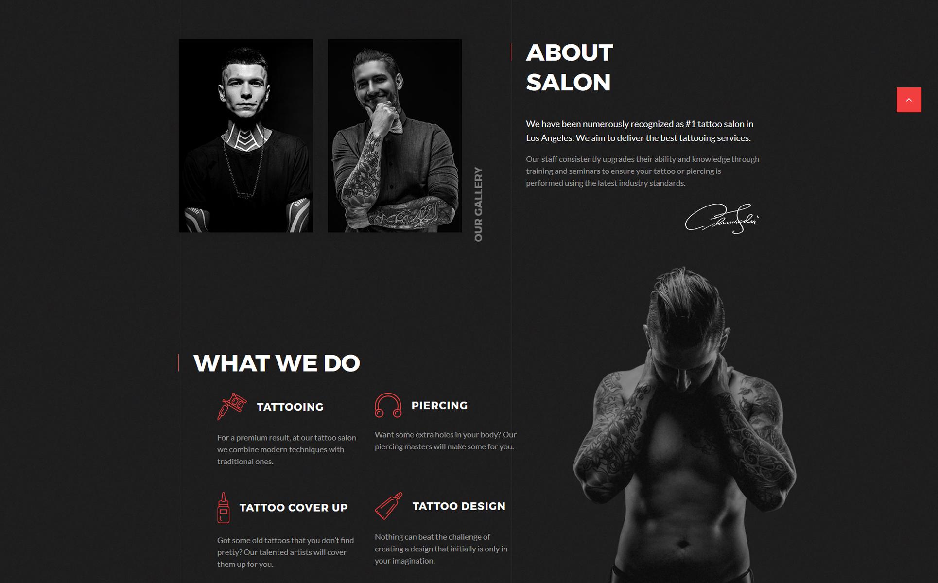 Tattoo Salon Multipage HTML5 Template