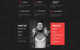 Responsive Website Vorlage für Tattoo Salon