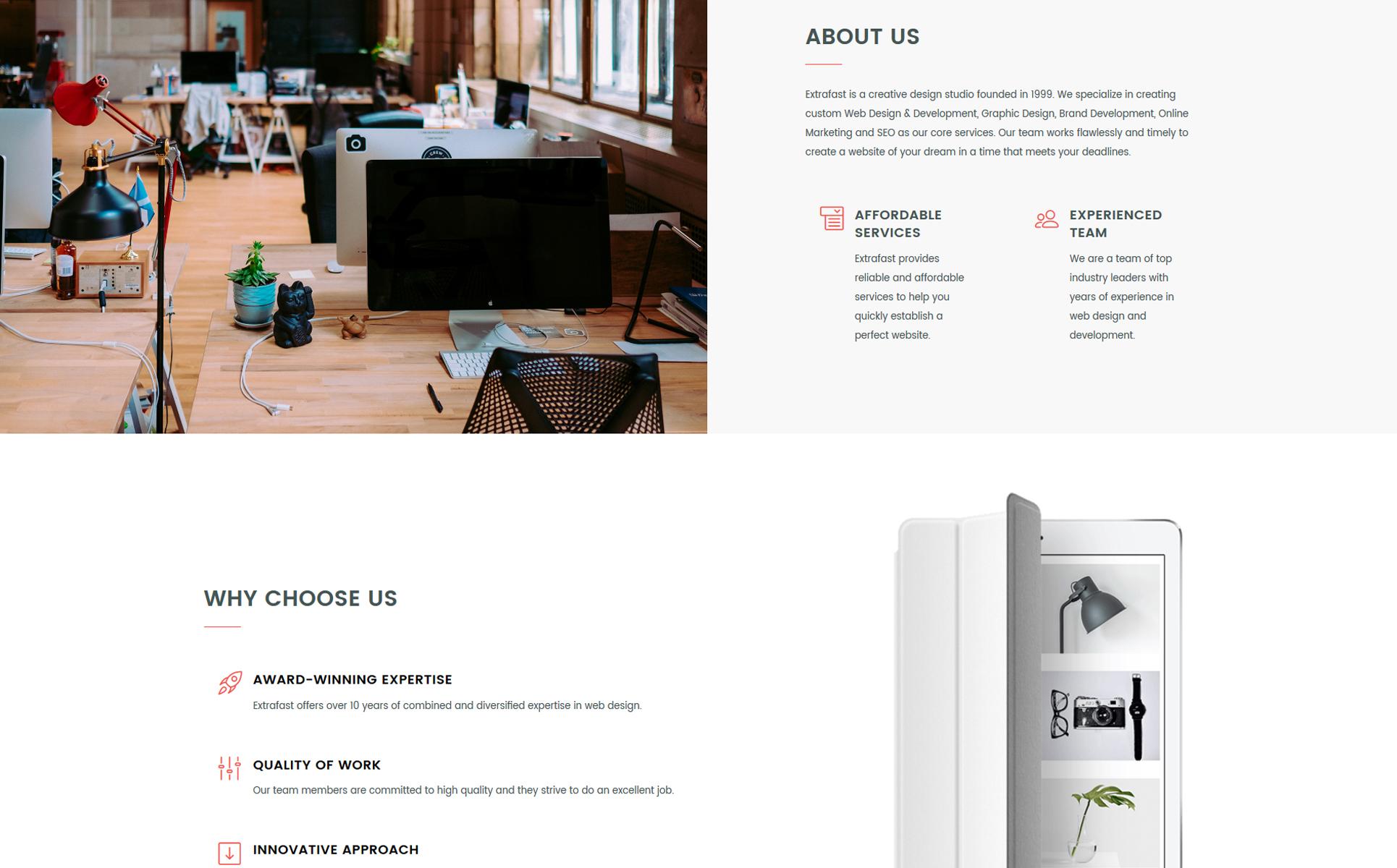 Landing Page Template für Kunstatelier