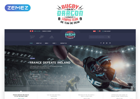 Rugby Multipage HTML5