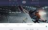 Plantilla Web para Sitio de Rugby Captura de Pantalla Grande