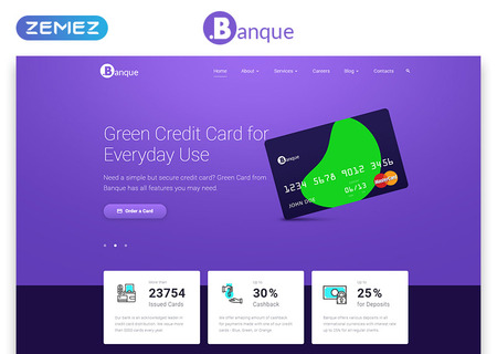 Financial Multipage HTML5
