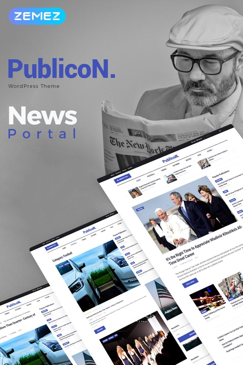 Адаптивный шаблон №70784 на тему бизнес и услуги, медиа-сайт, новостной портал