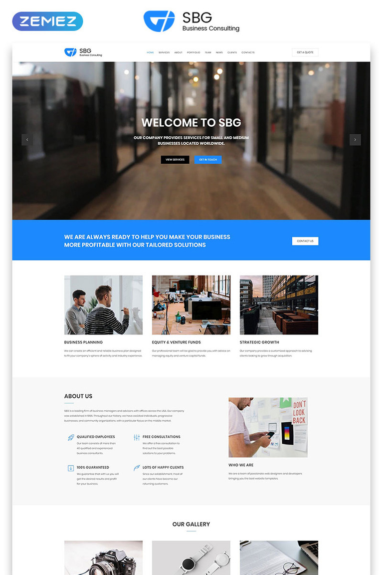 Business Consulting Landing Page Html Template