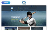 """Rogers - Baseball Team Multipage HTML5"" Responsive Website template"