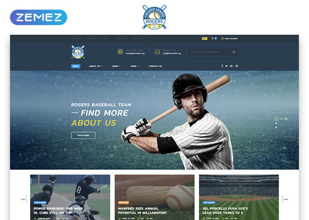 Baseball Team Multipage HTML5