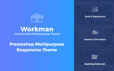"""Workman - Construction Multipurpose"" Responsive PrestaShop Thema"