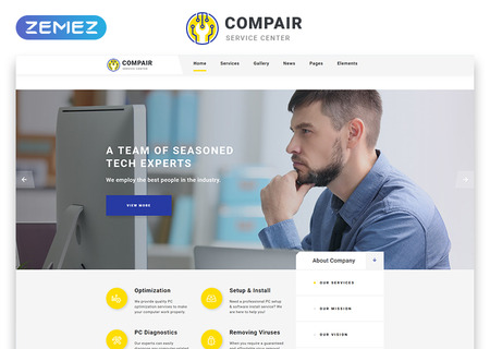 Computer Service Center Multipage HTML5