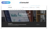 "Landing Page Template namens ""eConsulat - Solid Business Company HTML"""