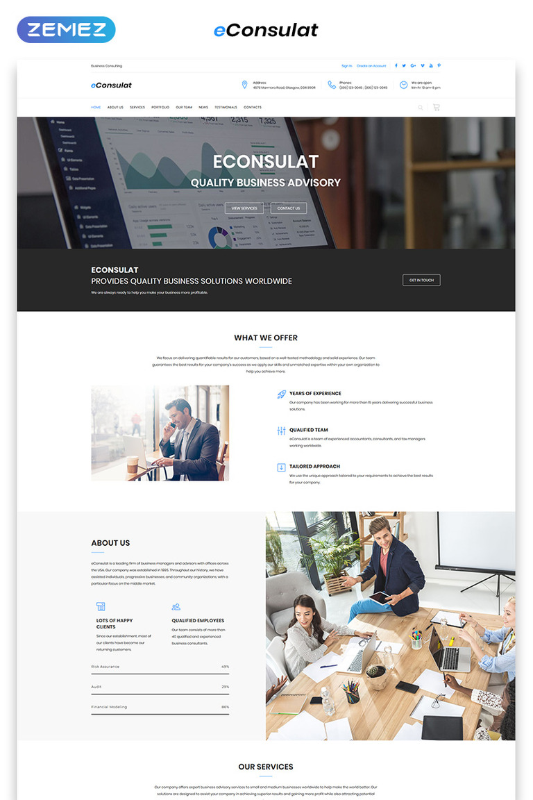 Business Company Landing Page Html Template