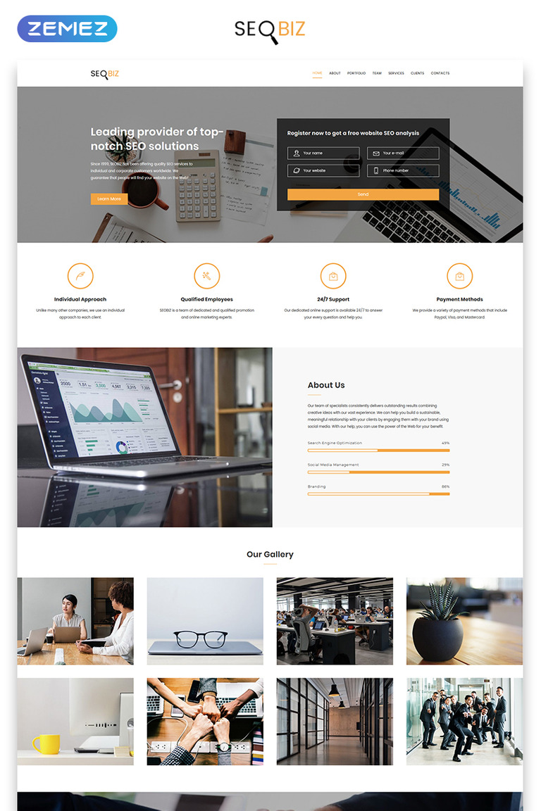 Modern Landing Page Html Template