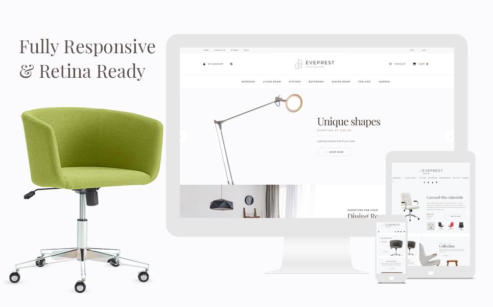 Tema para prestashop - Categoría: Decoración y muebles - versión para Desktop