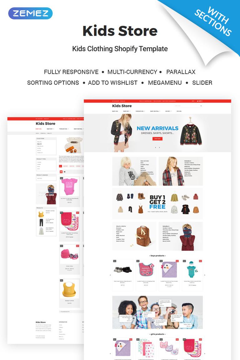 Kids Clothing Store Shopify Theme New Screenshots BIG