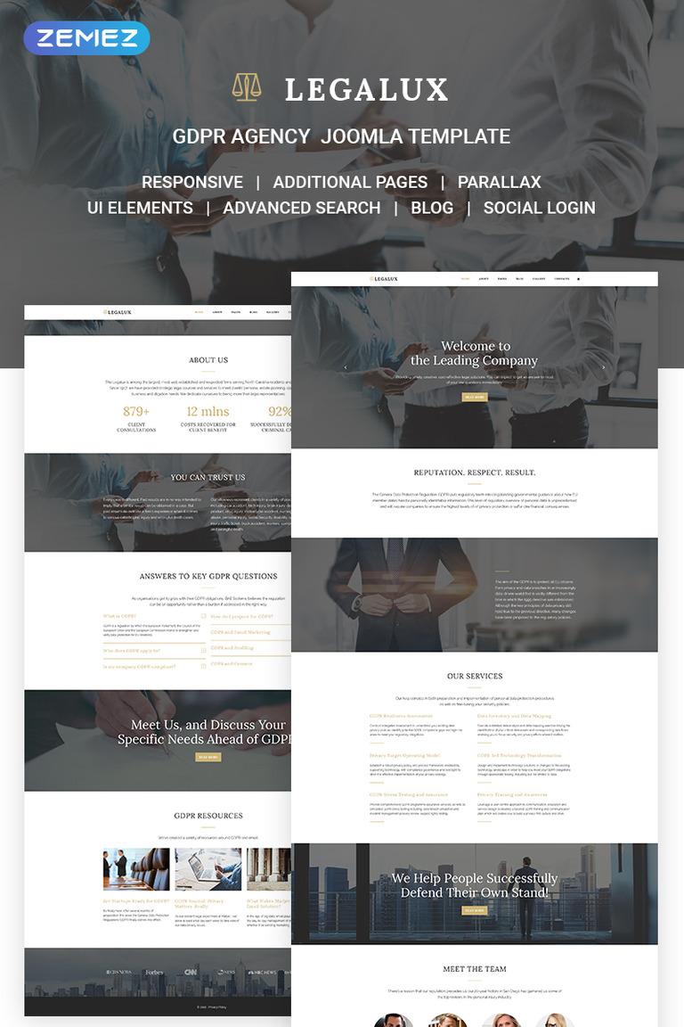 Legalux - GDPR Agency Joomla Template #71186