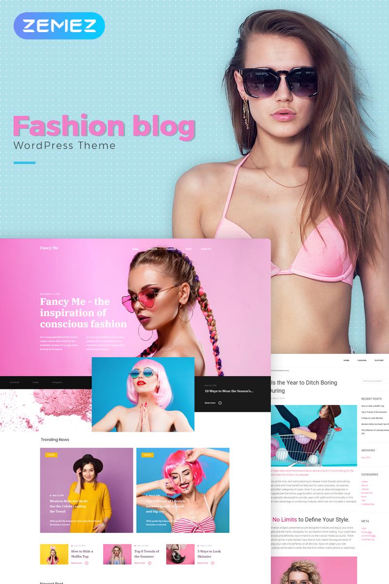 Адаптивный шаблон №71209 на тему мода и красота, блог о моде