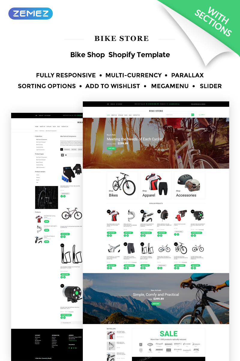 Bike Store Responsive Shopify Theme