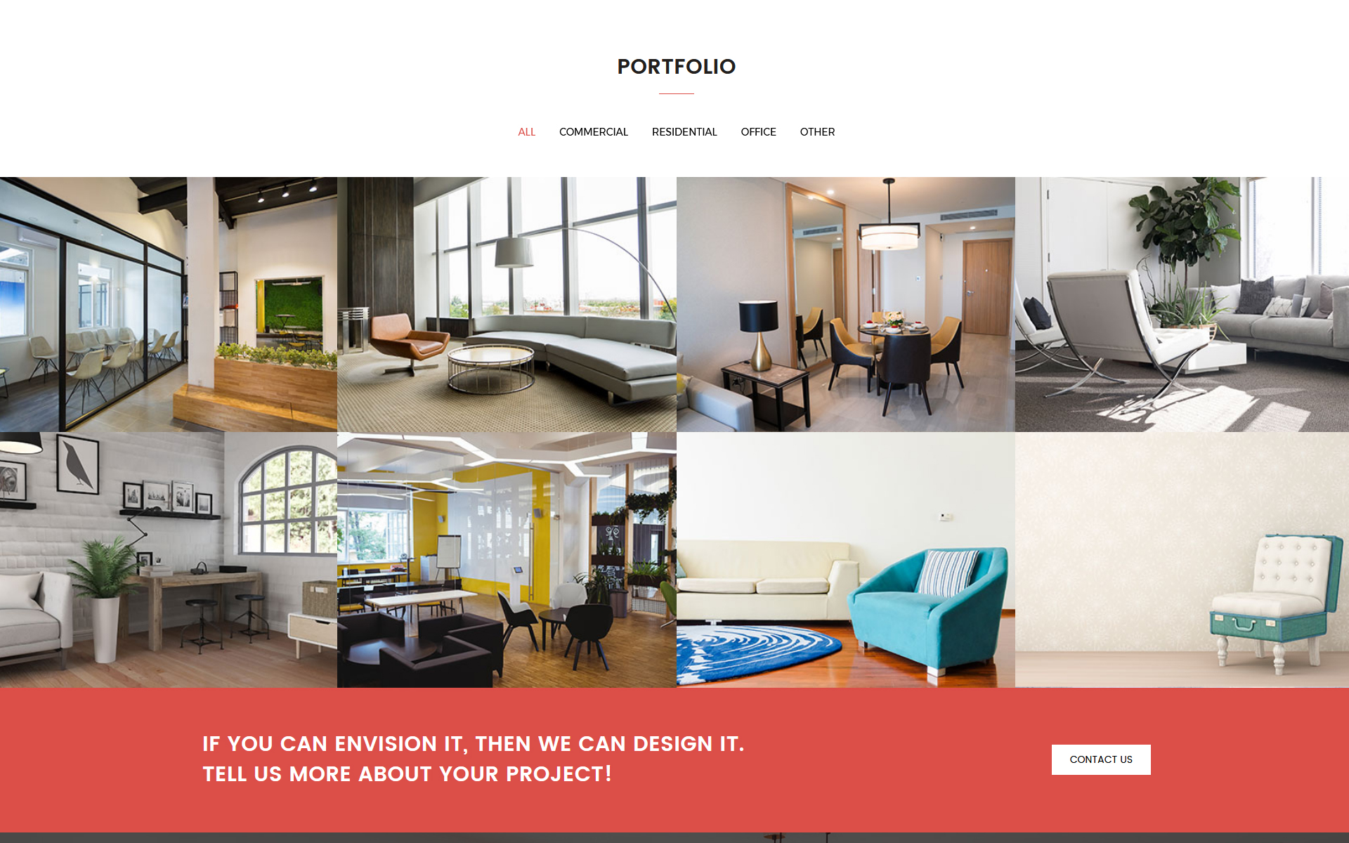 Incroyable Interiart   Interior Design HTML Landing Page Template Big Screenshot ·  Zoom In Live Demo