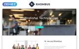 "Шаблон посадочной страницы ""Rhombus - Minimalistic IT Solutions Company"""