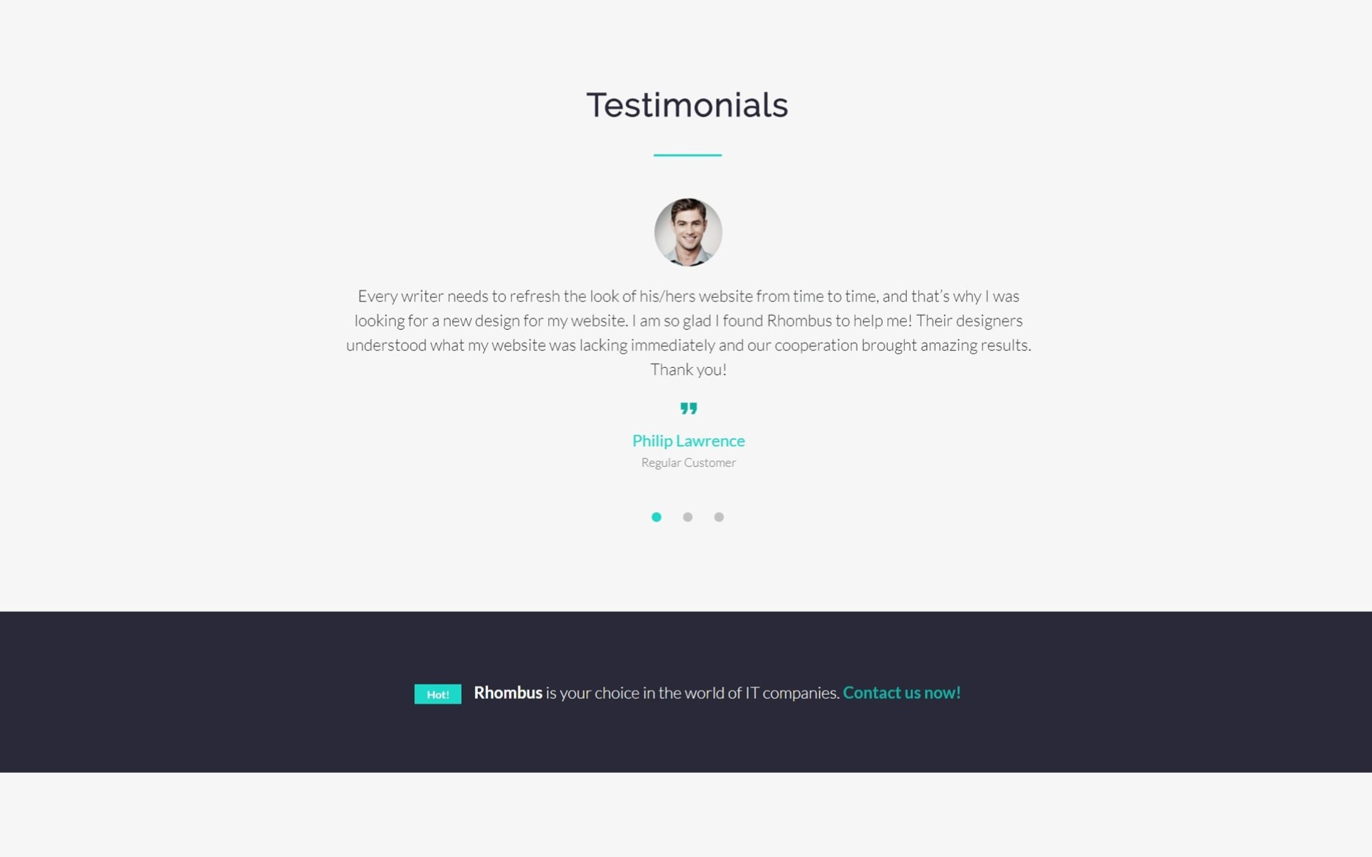 It Company Landing Page Html Template