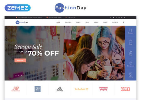 Fashion Shop Multipage HTML template