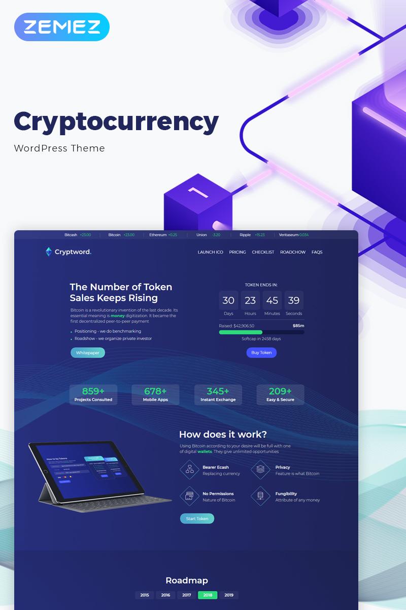 Cryptword - Cryptocurrency Elementor WordPress Theme