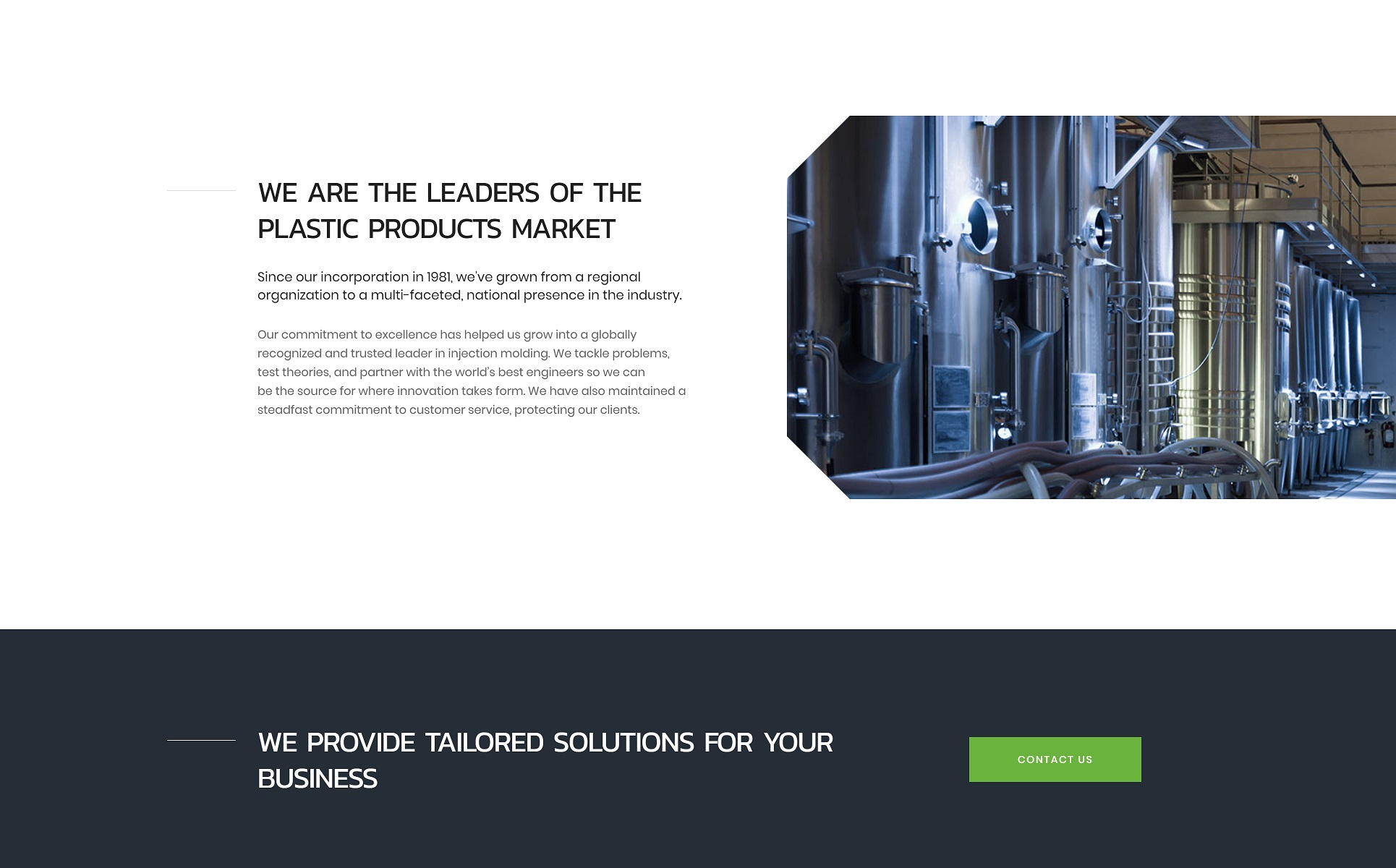 Plastic Solutions Landing Page HTML5 Template