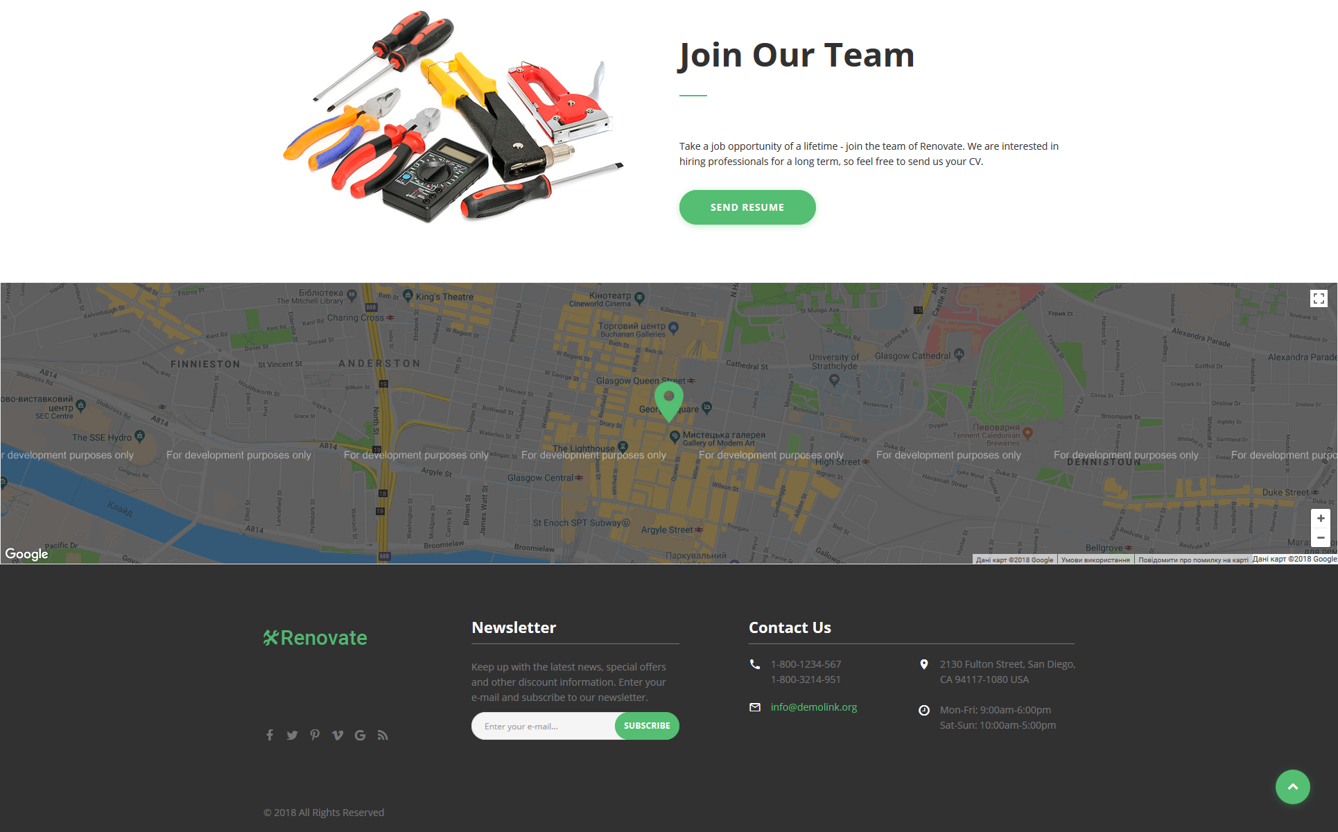 Repair Service Landing Page HTML5 Template