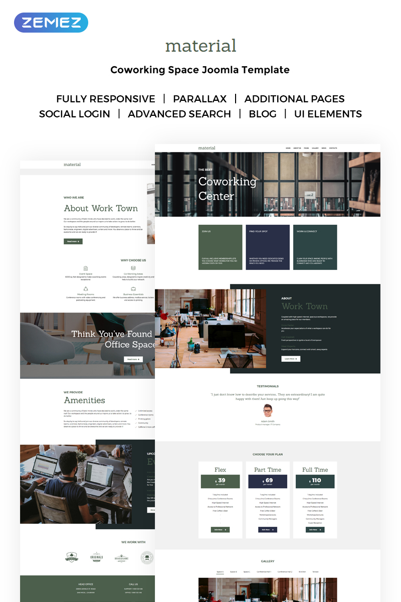 Work Town - Coworking Space Joomla Template
