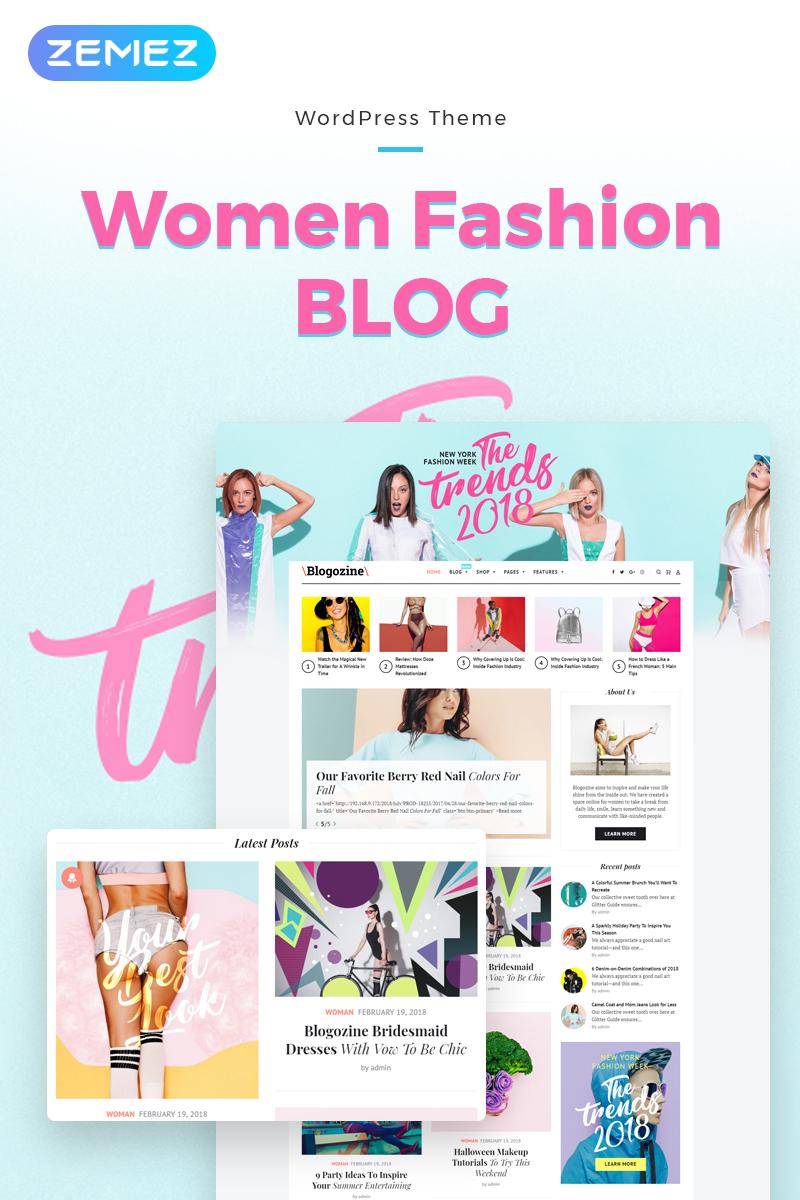 Адаптивный шаблон №71661 на тему мода и красота, блог о моде
