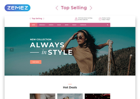 Fashion Store Multipage HTML5