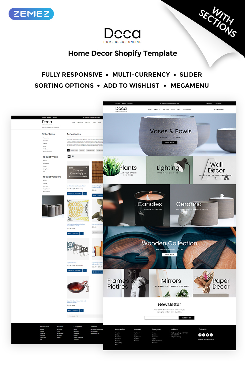 Doca - Home Decor Responsive Shopify Theme
