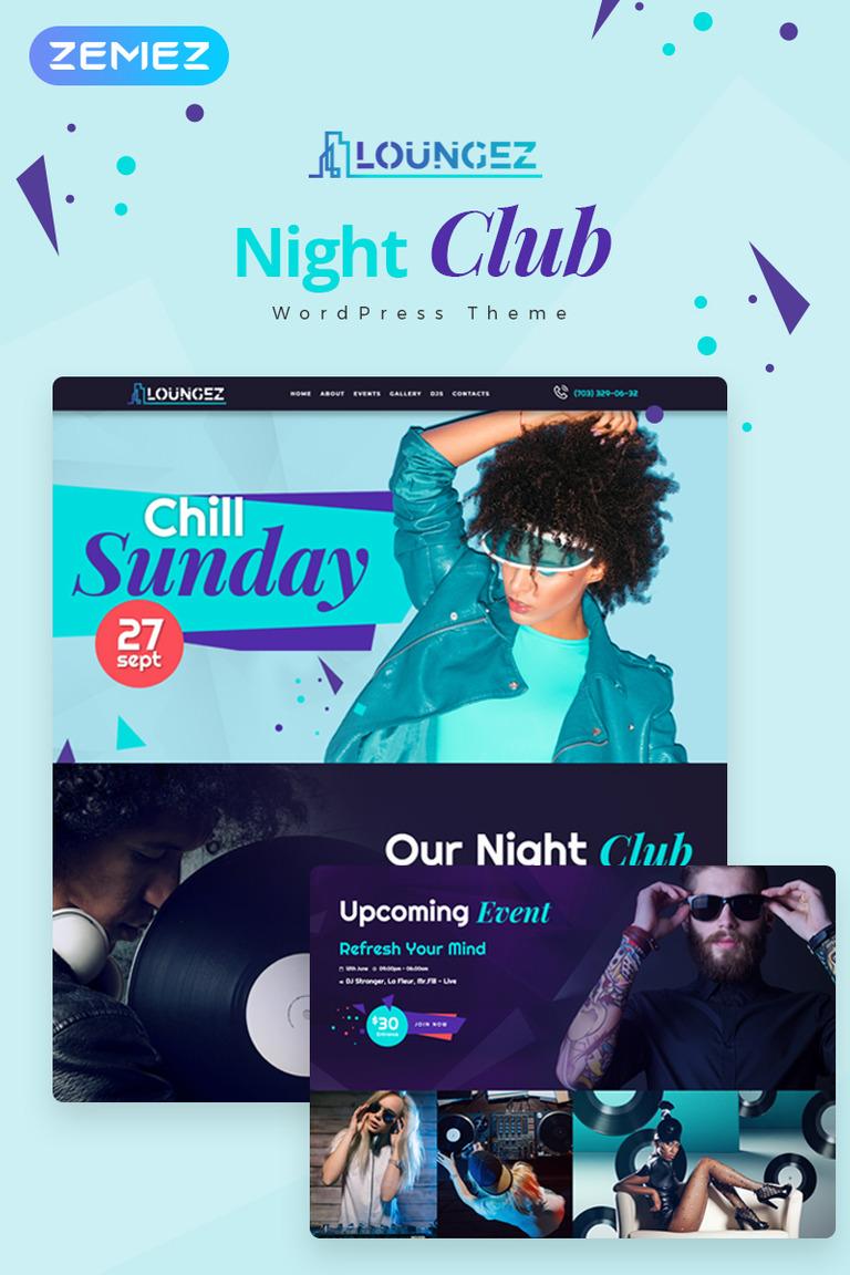 Loungez - Night Club Elementor WordPress Theme