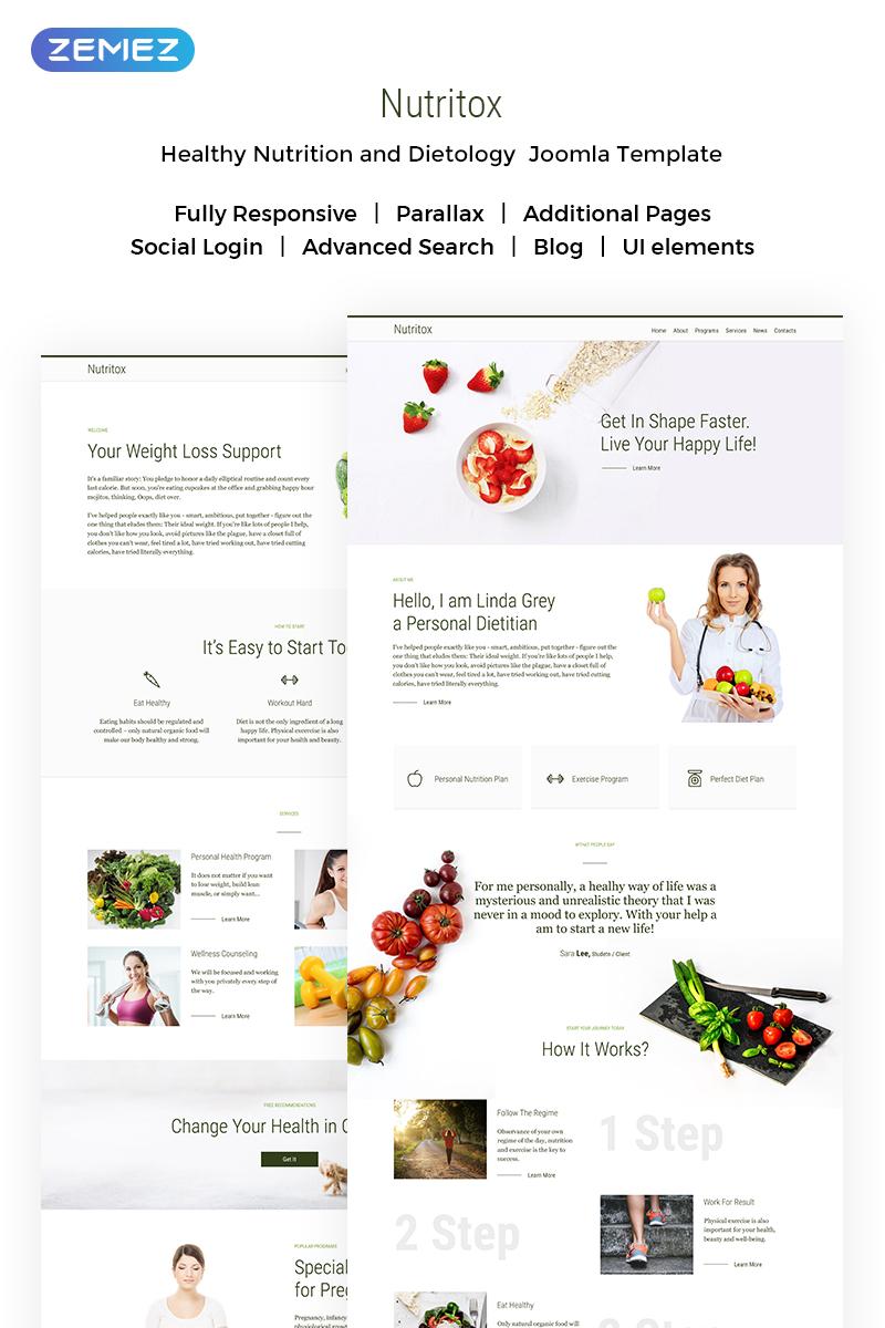 Nutritox - Simple Dietitian & Health Blogger Joomla Template
