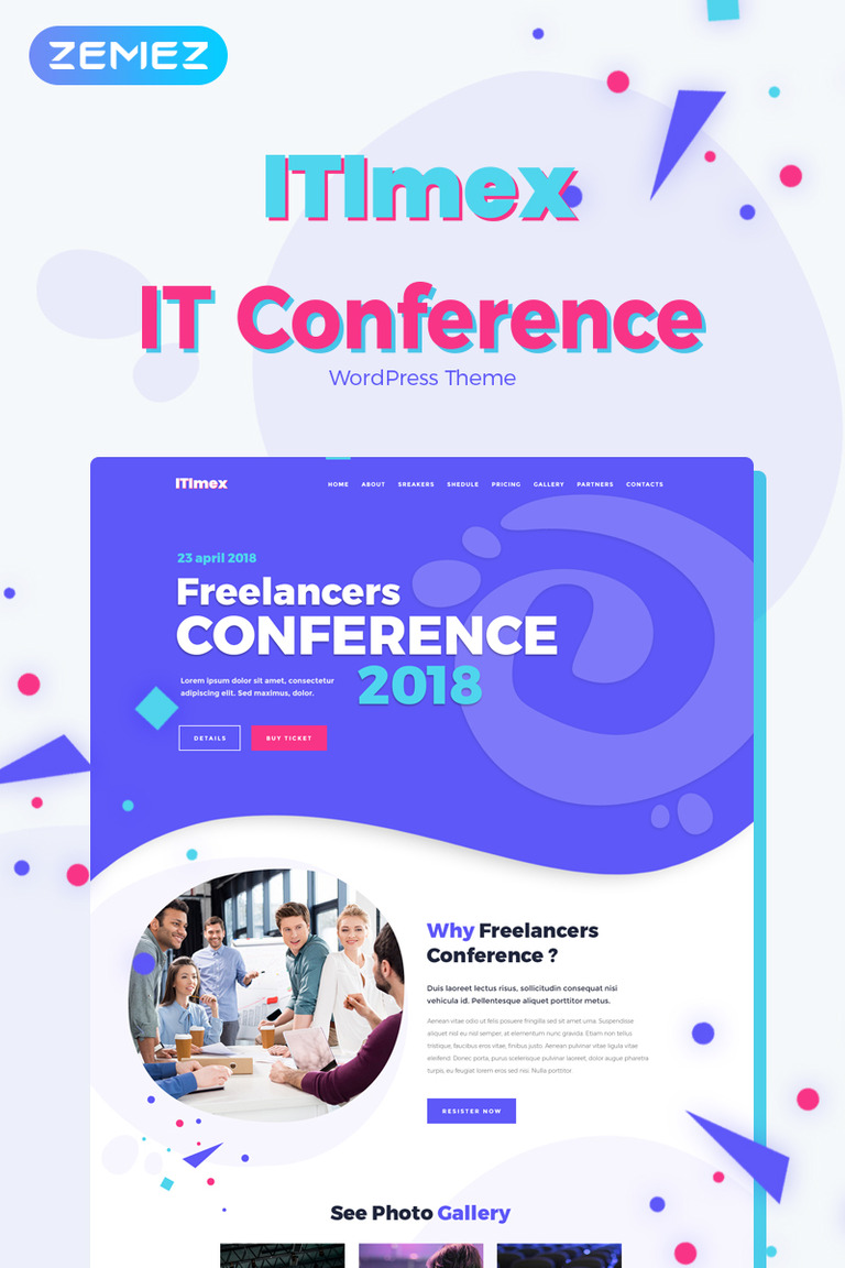 ITImex - IT Conference Elementor WordPress Theme
