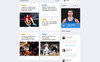 Dragons - Basketball Team Multipage HTML5 Website Template Big Screenshot