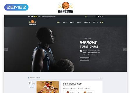 Basketball Team Multipage HTML5
