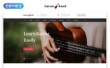 """Guitar Band - Cool Music School HTML"" Responsive Landingspagina Template"