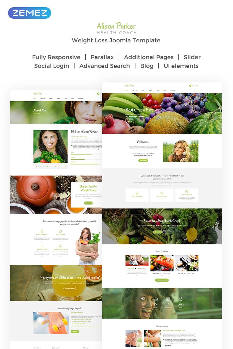 82a31fe9ee6f Responsivt Alison Parker - Fresh Health Coach Joomla-mall New Screenshots  BIG